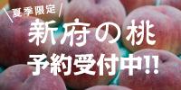 韮崎・新府の桃レフトバナー